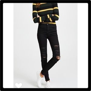 J Brand High Rise Photo Ready Maria Jeans Black